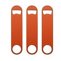 """QLL 3 Pack 7"""" Heavy Duty Flat Bottle Opener, Orange [並行輸入品]"""