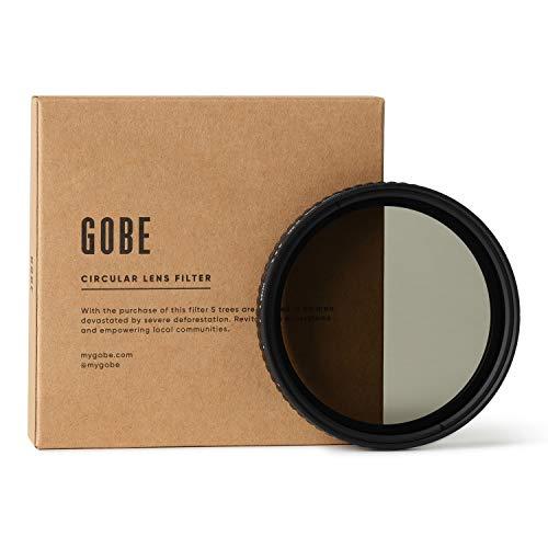 Gobe 72 mm Variabler Graufilter ND2-32 (1-5 Stop) ND Filter (3Peak)