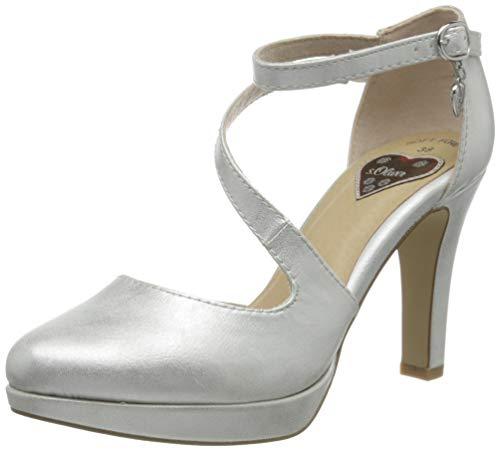 s.Oliver Damen 5-5-24440-34 Riemchenpumps, Silber (Silver 941), 41