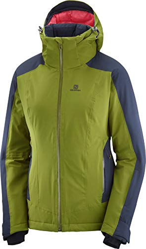 SALOMON Brilliant Jkt W Negro altavoz, Brillante Jkt W, Mujer, color avocado, tamaño extra-large