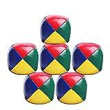 Allowevt Bolas De Malabares 6 Piezas De Malabares De Pelotas De Malabares para Principiantes Ballo De Puñetazo Duradero Suave Y Suave Multicolor Multicolor Compatible