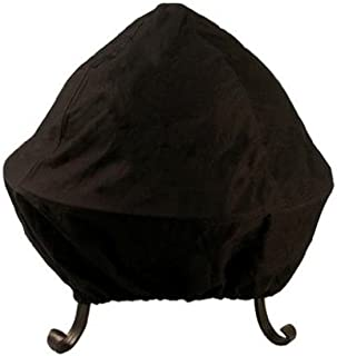 Catalina Creations All Weather Outdoor Black Vinyl Fire Pit Cover with Double Stitched Seams Elastic Band for Standard or Easy Access Spark Screens, Fits Up to 40