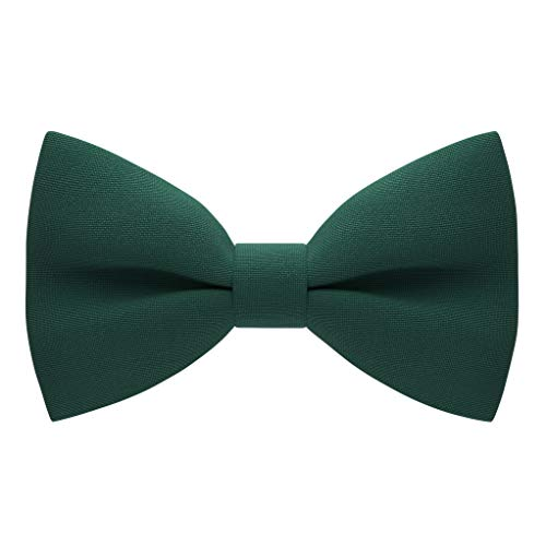 Men's Classic Pre-Tied Bow Tie Formal Solid Tuxedo, by Bow Tie House (Large, Emerald Green)