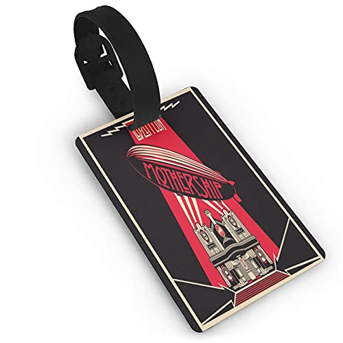 Led Zeppelin Logo Etichette per Bagagli Unisex Valigia Etichette per Bagagli Tag Id Tag con Posteriore Completa Copertura Privacy per Navi Da Crociera Accessori Da Viaggio Tag