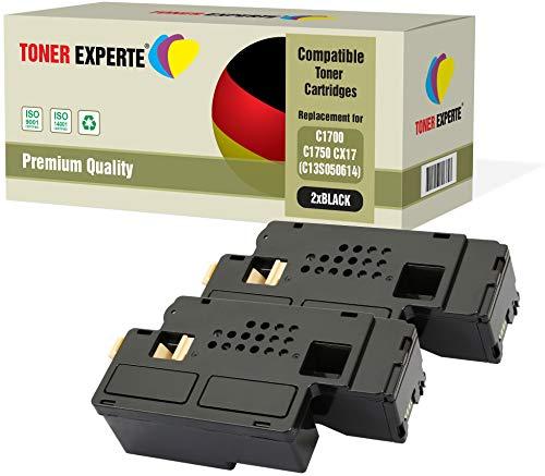 Kit 2 TONER EXPERTE C13S050614 Nero Toner compatibili per Epson AcuLaser C1750N, C1750W, CX17NF, CX17WF, C1700, C1750, CX17