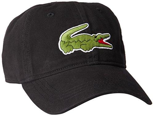 Lacoste Herren Mütze Big Croc Gabardine - Schwarz - Einheitsgröße