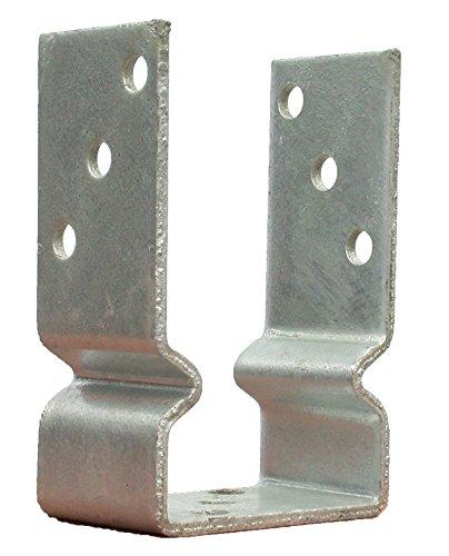 U Pfostenträger Wulst Sicke 111 mm Balkenschuh feuerverzinkt für Holzposten 11 cm