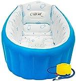 CBM Italy Bac de bain pour bébé, design innovant et portable, peu encombrant, ergonomique, pour enfant, baignoire gonflable, pliable, piscine, voyage, support bébé