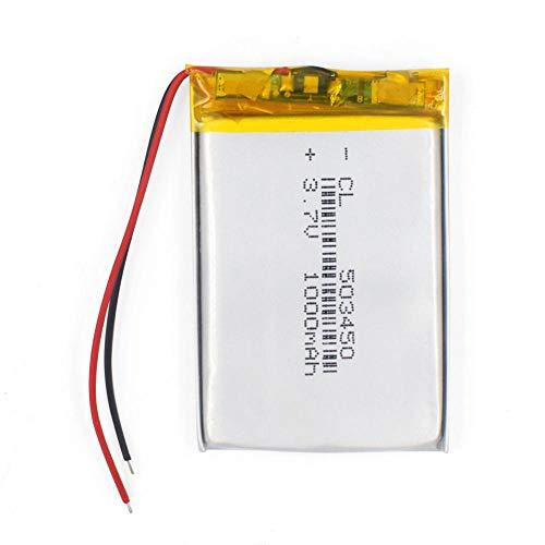 ahjs457 1 Uds 543450 3,7 V 1100 mAh batería Recargable de polímero de Litio 503450 523450 para teléfono Inteligente DVD MP3 MP4