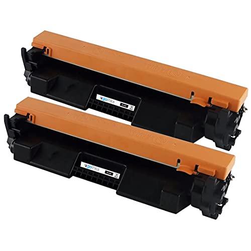 2 Go Inks Cartuchos de tóner láser Negro para reemplazar HP CF217A (17A) Compatible/Non-OEM para HP Laserjet Pro Impresoras