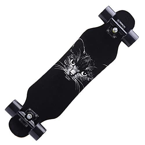 VOMI Longboard Niños Principiantes, Arce de 7 Capas, 80 cm Drop-Through Skateboard Patineta Completa Freeride Dancing Cruiser