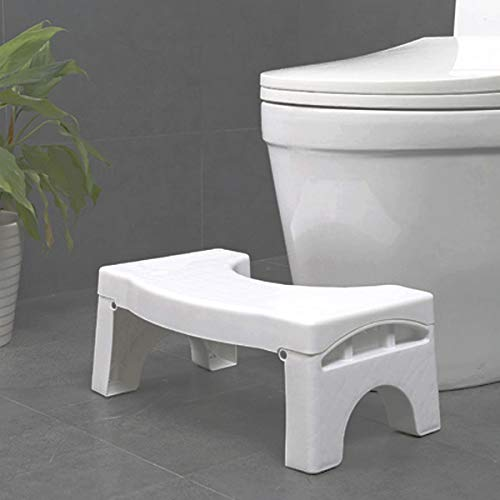 Eyoulife Collapsible Step Toilet Stool Bathroom Squat Aid for Constipation Relief