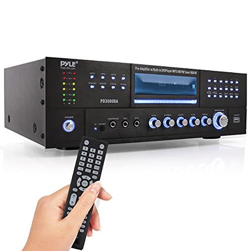 Pyle 4 Channel Wireless Bluetooth Amplifier - 3000 Watt Stereo Speaker Home Audio Receiver w/ FM...