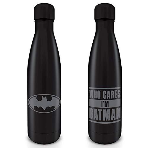 empireposter Batman - Who Cares I'm Batman - Alu-Trinkflasche mit Deckel - Größe Ø6,5 H28 cm