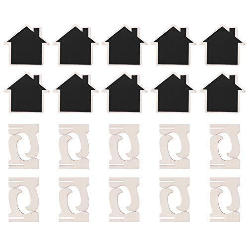 Changor Tablero de Mensajes, Mini pizarras firmes 7.2x8cm Placa de Densidad y Madera de Pino Hecha