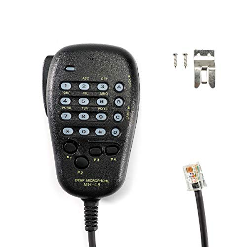 6 Pin Plug DTMF Handheld Speaker Microphone MH-48A6J Compatible with Yaesu FT-7800R FT-8800R FT-8900R FT-7900R FT-7100M1