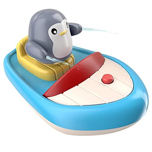 Nikula Juguetes de baño de pingüino giratorios eléctricos para bebés a Prueba de Agua, Juguetes de Piscina para bañera con Chorro de Agua para bebés Convenient