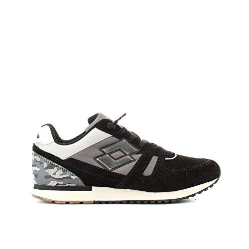 scarpe lotto uomo japan LOTTO SNEAKERS LEGGENDA TOKYO SHIBUYA NERO-GRIGIO T0837 - 41
