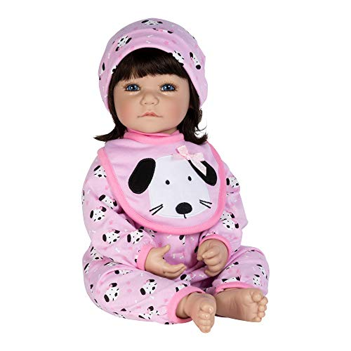 Adora Toddler Doll WOOF! Doll with Puppy Print Onesie, bib and Cap