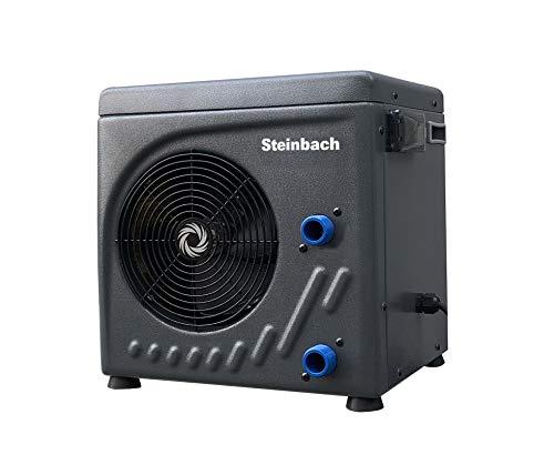 Steinbach Mini Wärmepumpe für Pools bis 20.000 l Wasserinhalt, Heizleistung 3,9 kW, 220V Betriebsspannung, Wasseranschluss Ø 32/38 mm, schwarz, 049273