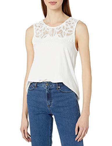 French Connection Ekon Embellished T-Shirt, Bianco (Summer White 10), 42 (Taglia Produttore:Medium) Donna