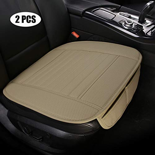 EDEALYN Car Seat Cushions, 2pcs PU Leather Universal car seat Covers car seat Protector for Car...