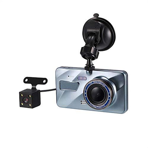 Bioaley Dashcam 1080P + Rückkamera, Full HD Autokamera DVR 4 Zoll IPS Big Screen Dash Kamera für Autos 170 Weitwinkel, Fahrrekorder mit Nachtsicht, 24H Parkmonitor