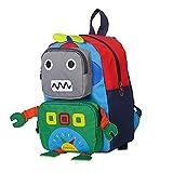 Cartoon Roboter Schulrucksack für Kinder Kindergartenrucksack Cartoon Tier kleiner Roboter Rucksack Kleinkind Schultasche Jungen Mädche Rucksack Kinder Schulrucksäcke Kindergarten (Grün)