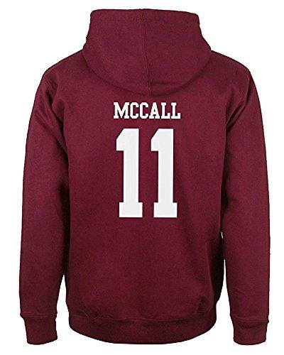 ShallGood Sweatshirt Hoody - Sudadera de fútbol para hombre Rojo MCCALL 11 EU XS