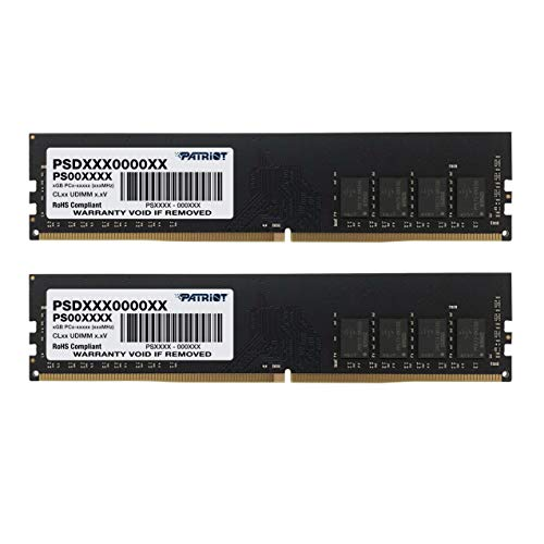 Patriot Memory Signature Line DDR4 8GB (2 x 4GB) 2400MHz UDIMM Dual Kit Module with Heatshield - PSD48G2400KH