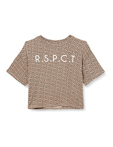 IKKS tee-Shirt Manches Courtes imprimé Fleurs Camiseta, Camel Estampado de Flores, 8 Años para Niños