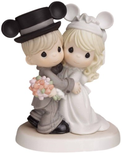 Precious Moments Bride and Groom Figurine with Mickey Ears