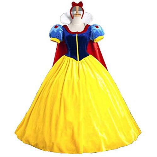 Halloween weibliches Schneewittchen Kostüm, Maskerade Bühnenuniform Performance Bekleidung Damen Rollenspiele Kostüme,L