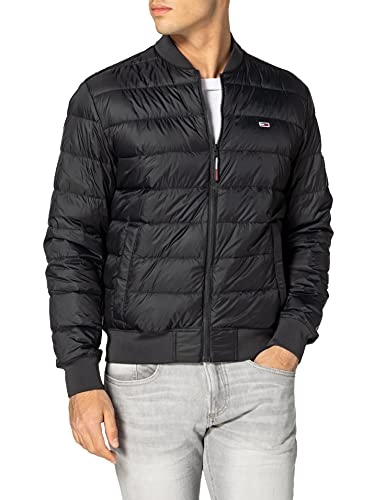 Tommy Jeans TJM Light Down Bomber Jacket Chaqueta, Negro (, XL para Hombre