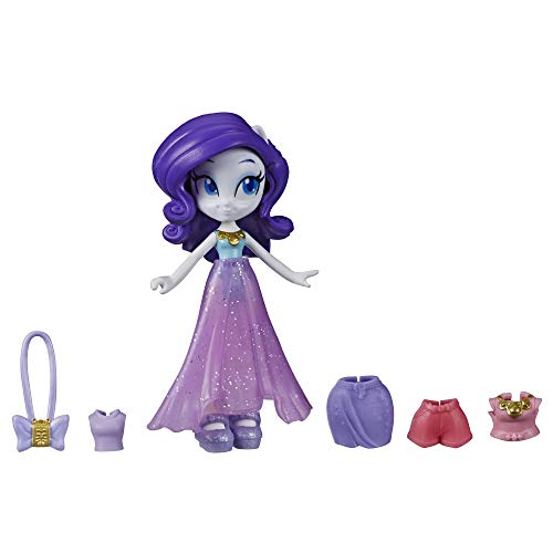 My Little Pony Equestria Girls Fashion Squad Rarity, 3-Inch Potion Mini Doll Toy with Outfit and Surprise Accessories for Kids 5 and Up