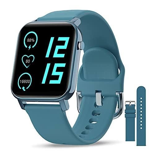 EPILUM Smartwatch, 1,4' Reloj Inteligente Mujer Hombre con Pulsómetro,Cronómetros,Calorías,Monitor de Sueño,Podómetro Monitores de Actividad, Relojes Inteligentes IP68 Impermeable FIT-O…