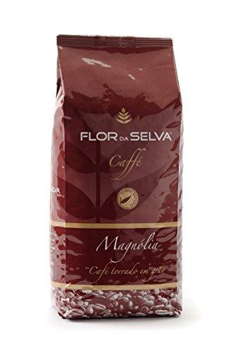 FLOR DA SELVA Caffé Magnolia milde Röstung ganze Bohne, 1 x 1kg, Gourmetkaffee aus Portugal, traditionell mit Holz geröstet, mild roast, ohne Konservierungsstoffe