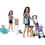 Barbie Sisters Babysitter + Muñeca Skipper Hermana De, Niñera De Paseo (Mattel Fjb00)