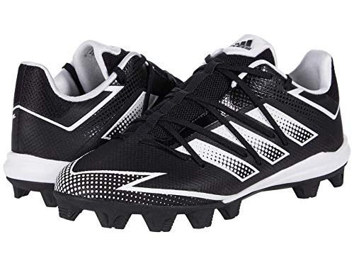 adidas Men's EG7623 Baseball Shoe, Black/White/Black, 10.5