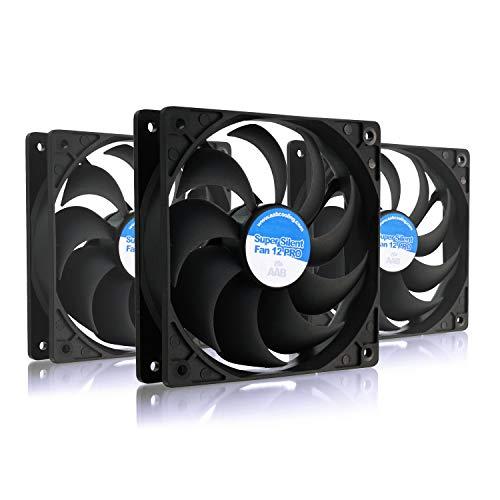 AABCOOLING Super Silent Fan 12 Pro - Un Silencioso y Muy Efectivo Ventilador 120mm, Fan PC, Ventiladores PC Silenciosos, Ventilador 12cm, Cooler, 90 m3/h, 1200 RPM - 3 Piezas 13,9 dB(A)