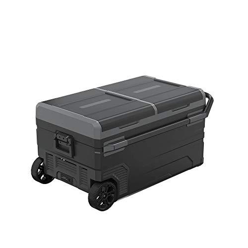 YELLAYBY Quick Cooling 75L Trolley Wheels Coche Refrigerador Congelador Deep DC12V24V Compresor portátil Camping Picnic al aire libre RV Mini Frigorífico Caja de enfriador Mini portátil
