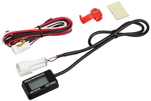 デイトナ バイク用 電圧計 測定可能電圧DC7.5~18V AQUAPROVA (アクアプローバ) コンパクトボルトメーター 92386