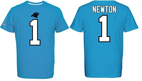 Majestic NFL T-Shirt Carolina Panthers Cam Newton #1 Trikot Redburn Football (XL)