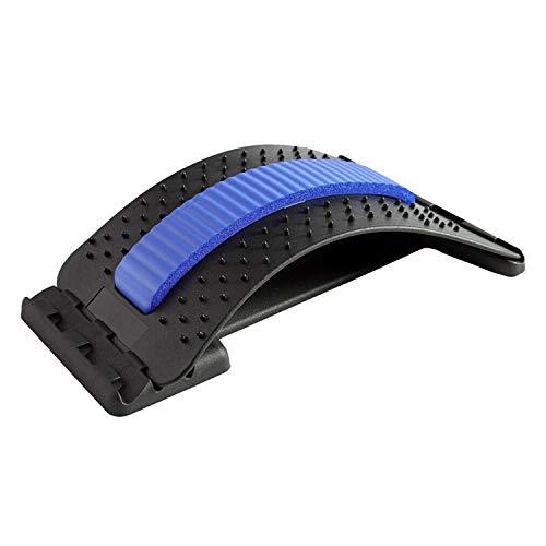 wolketon Rückenstrecker, Rückenmassage Unterstützung, Back Stretcher 3 Stufen Einstellbar Rückendehner für Lendenwirbelsäule Rückenschmerzen Linderung und Entspannung(Blau)