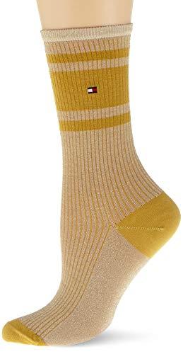 Tommy Hilfiger womens TH 2P LUREX RIB Socks, old gold, 35/38 (2er Pack)