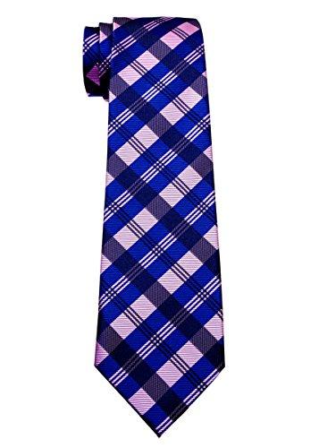 Corbata de tartán con estampado de cuadros para niños de 8 a 10 años, varios colores - Rosado - 8-10 años