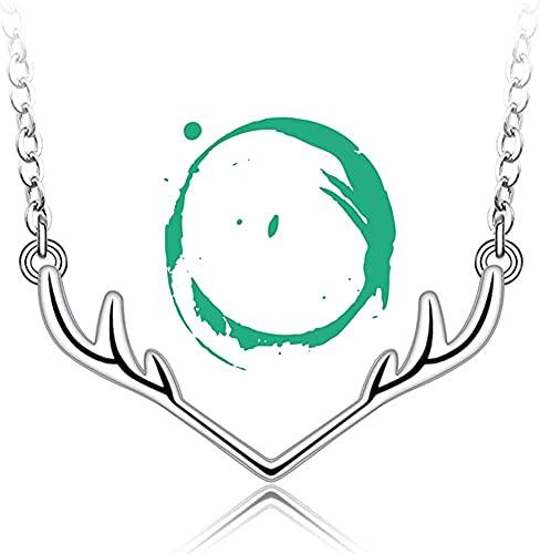 LYDIANZI Cadena De Clavícula De Estilo Minimalista De Renos De Estilo De Reno con Encanto Personalizado Charm Charm Collares