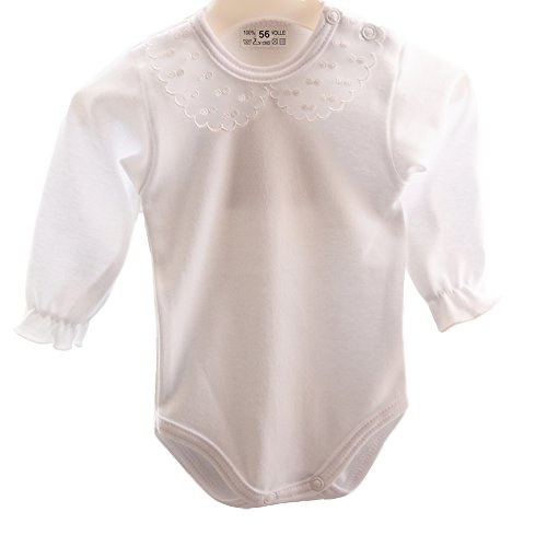La Bortini Baby Body mit festlichem Kragen (80)