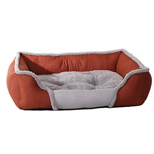 Lai-LYQ Herfst Winter Wasbaar Zacht Huisdier Hond Bed Warm Pluche Kussen Puppy Kat Kennel Nest - Rood S, BrownL, Brown.nl