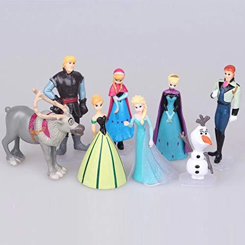 NamekPlanet - Lot 8 Figurines La Reine des Neiges - 4 à 8cm